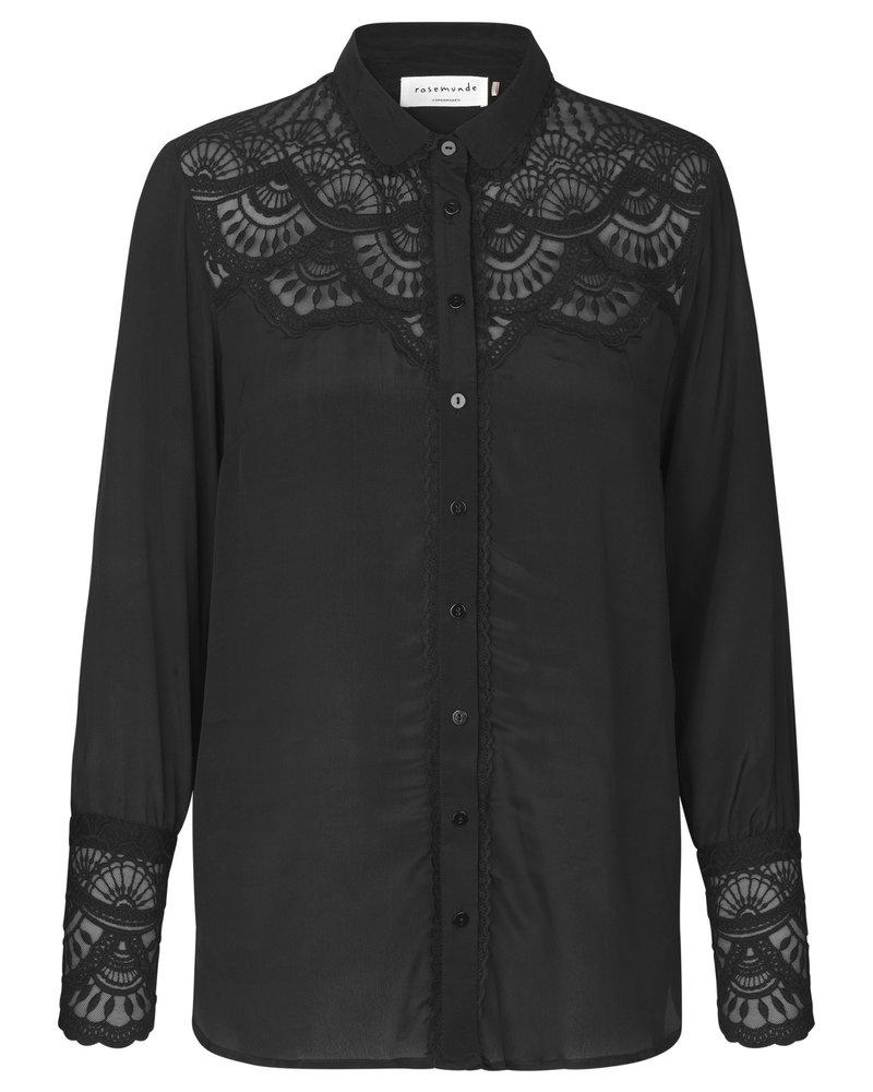 Rosemunde Rosemunde blouse ls black