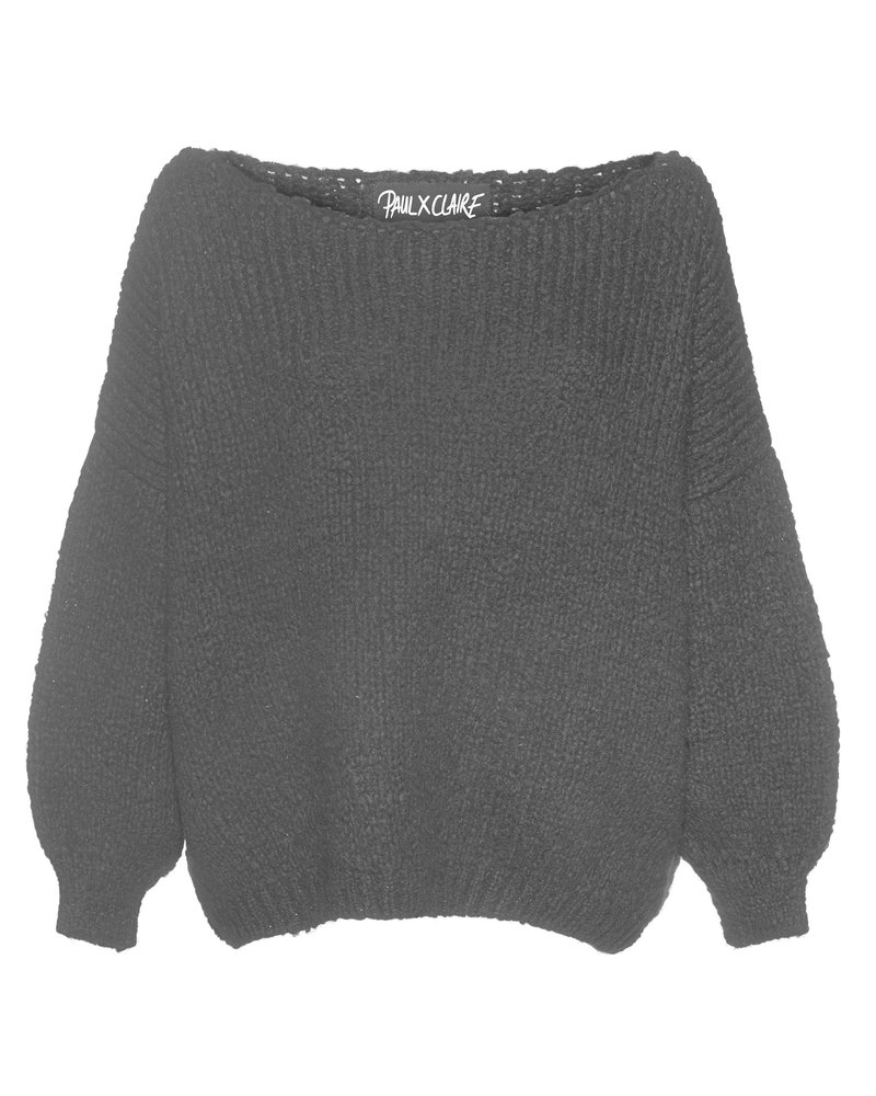 PAUL X CLAIRE PAUL X CLAIRE pullover 'happytogether' black