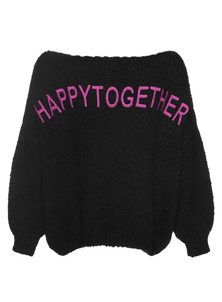 PAUL X CLAIRE Pullover 'happytogether' black