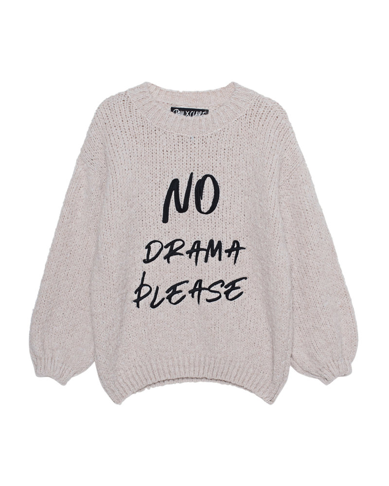 PAUL X CLAIRE PAUL X CLAIRE pullover 'No drama please'