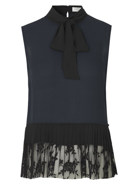 Rosemunde Top dark blue/black