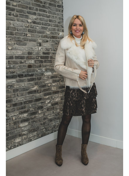 Patrizia Pepe Coat natural/bianco