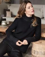 REPEAT cashmere Sweater black
