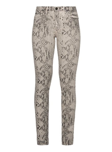 7 For All Mankind Skinny coated snakeskin champagne