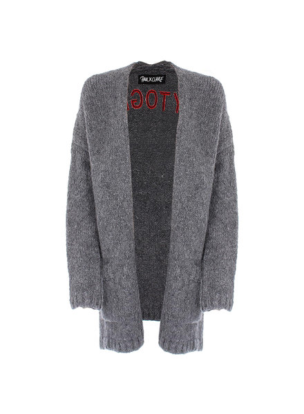 PAUL X CLAIRE Cardigan 'happytogether' antra