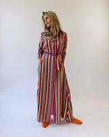 EST'SEVEN Maxi Dress Silk Stripe