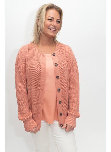 REPEAT cashmere Cardigan cotton blush