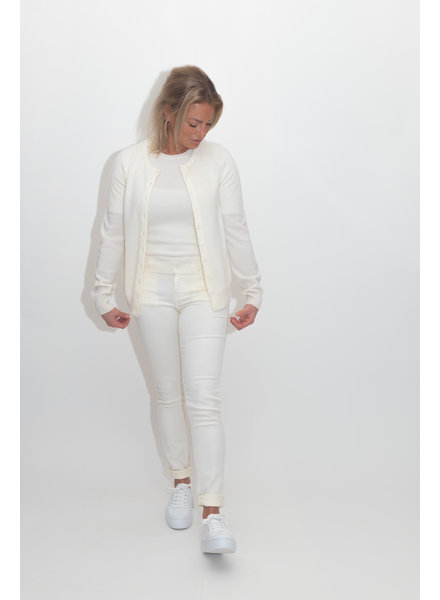 REPEAT cashmere Cashmere cardigan cream