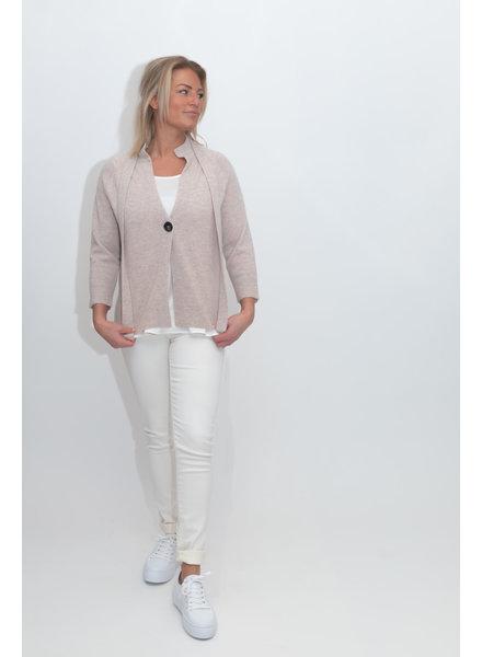 REPEAT cashmere Cashmere cardigan beige