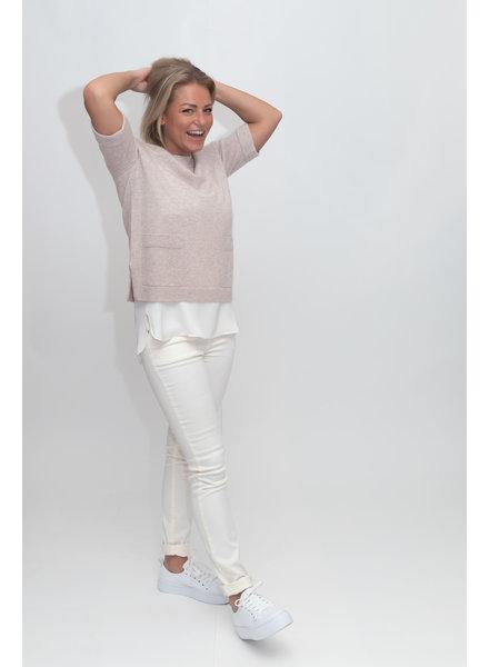 REPEAT cashmere Cashmere trui beige