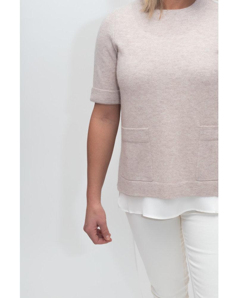 REPEAT cashmere REPEAT cashmere trui beige