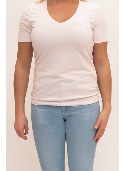 REPEAT cashmere Cotton t-shirt rose