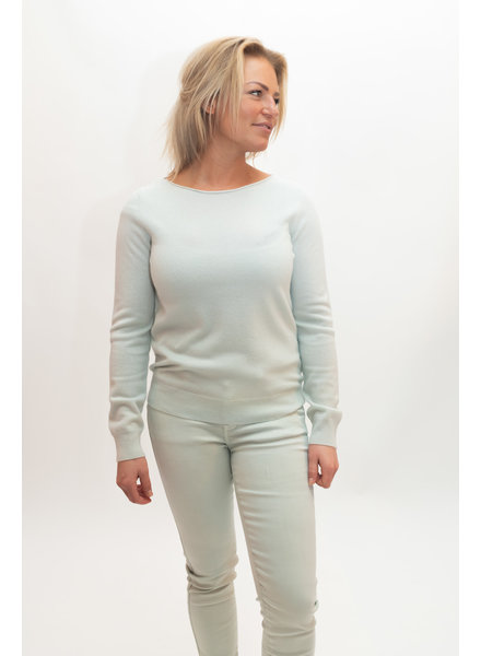 REPEAT cashmere Boothals trui jade