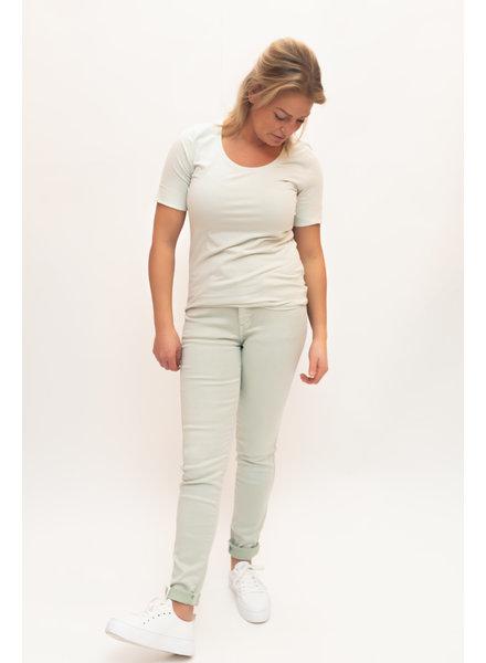 REPEAT cashmere Cotton t-shirt jade