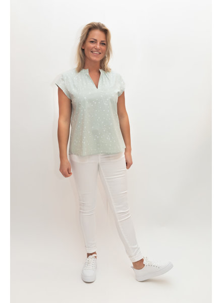 REPEAT cashmere Cotton top jade heart