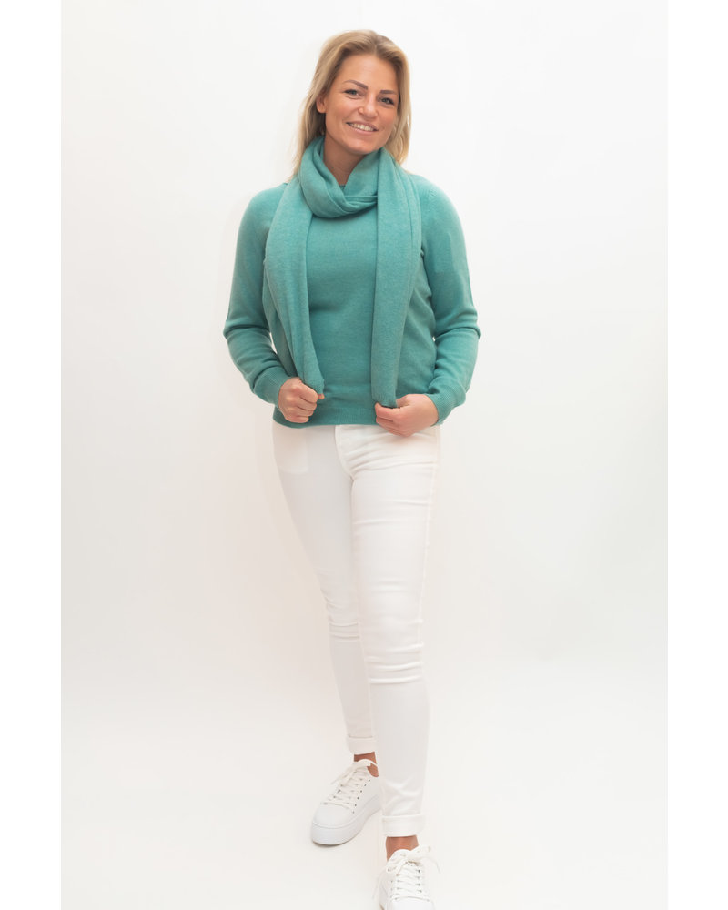 REPEAT cashmere REPEAT cashmere sjaal wasabi