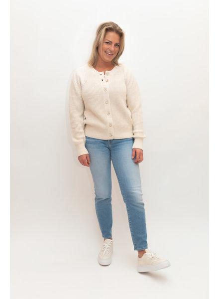 REPEAT cashmere Cardigan cotton lt beige