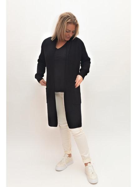 REPEAT cashmere Cotton cardigan black