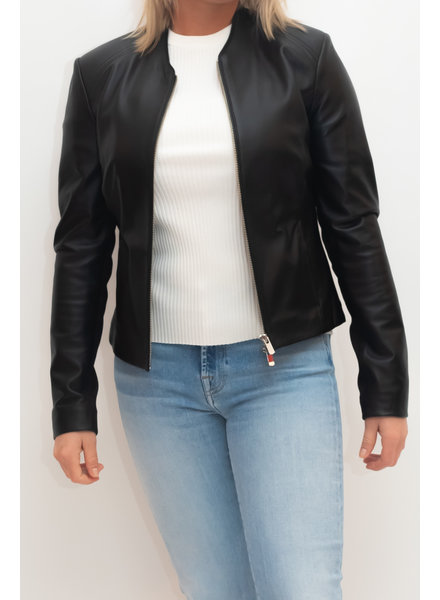 REPEAT cashmere Leather jacket black