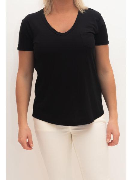 REPEAT cashmere T-shirt black