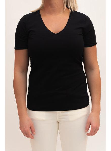 REPEAT cashmere Cotton t-shirt black