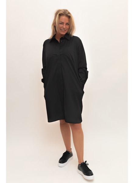 REPEAT cashmere Cotton blouse long black