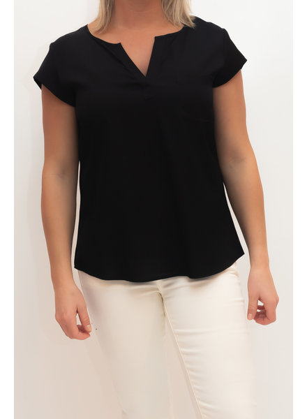 REPEAT cashmere Silk top black