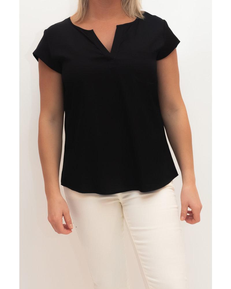 REPEAT cashmere REPEAT silk top black