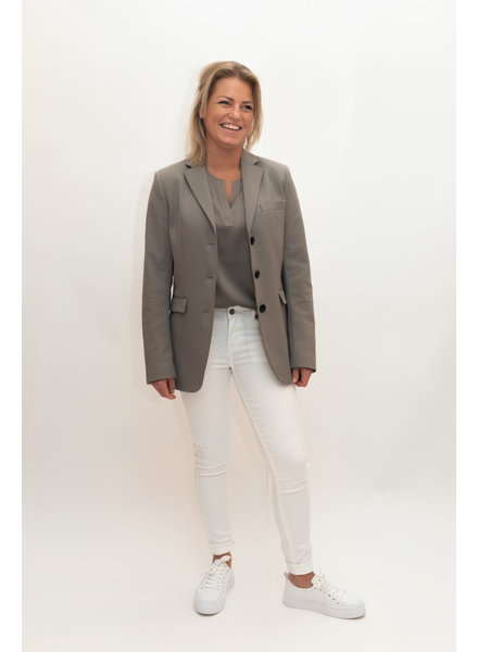 REPEAT cashmere Long blazer khaki