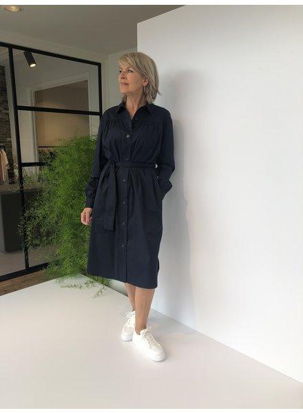 REPEAT cashmere Cotton dress navy