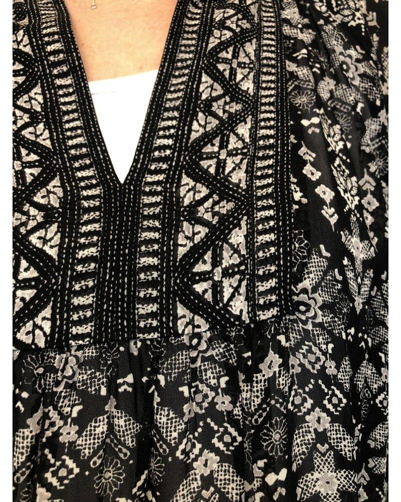REPEAT cashmere REPEAT tuniek black/ethno