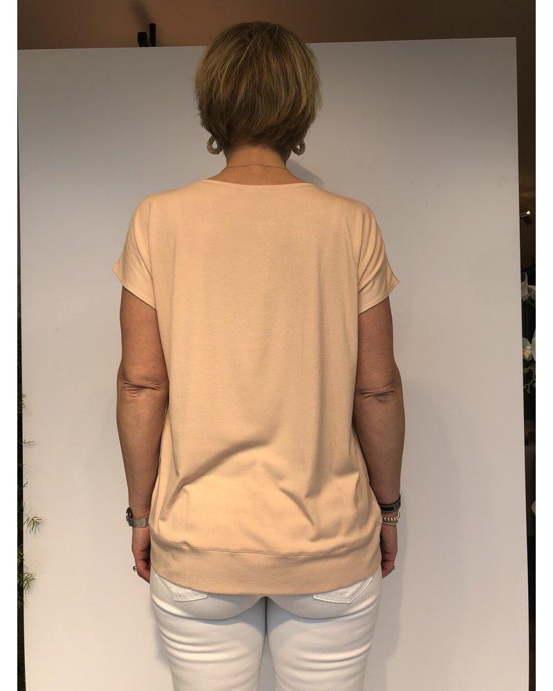 REPEAT cashmere REPEAT silk shirt peach