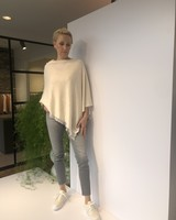 REPEAT cashmere Poncho lt beige