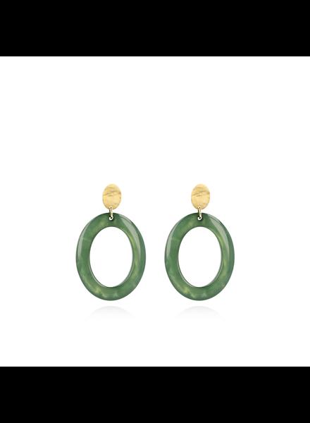 LOTT. gioielli Shellstone groene oorbellen