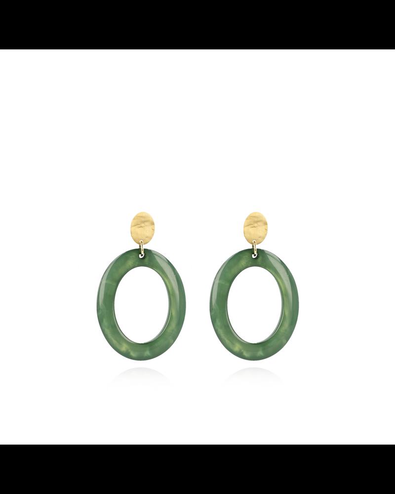 LOTT. gioielli LOTT. shellstone groene oorbellen