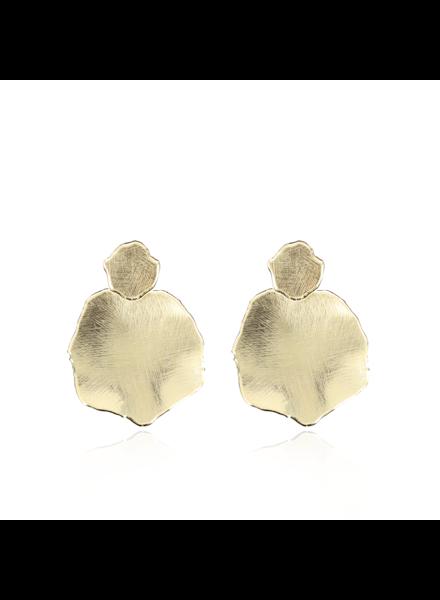 LOTT. gioielli Gouden satin oorbellen