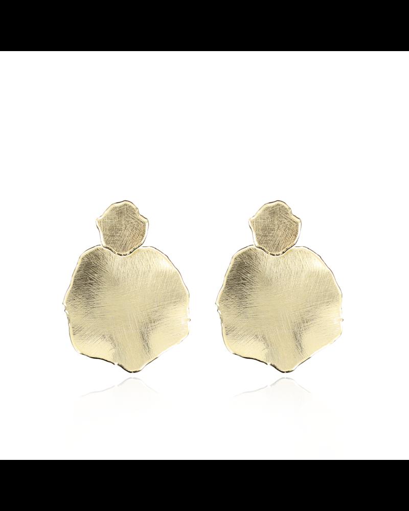LOTT. gioielli LOTT. gouden satin oorbellen