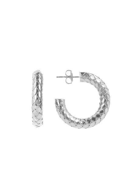 LOTT. gioielli Cobra creool zilver rond S