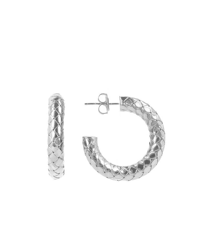 LOTT. gioielli LOTT. cobra creool zilver rond S