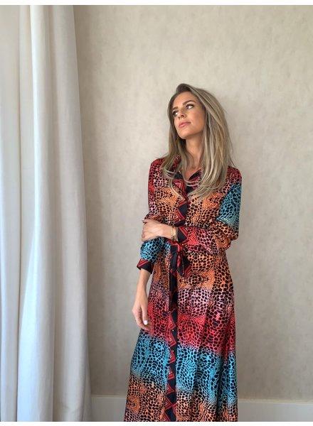 EST'SEVEN Maxi Dress Snake Rainbow