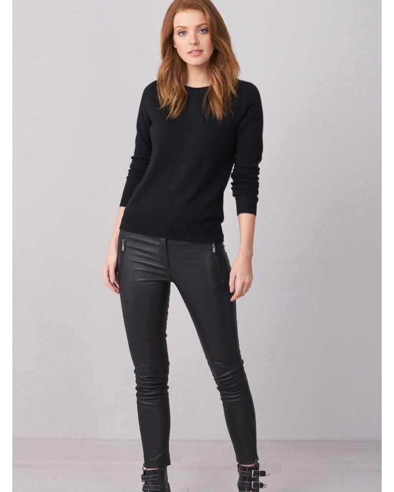 REPEAT cashmere REPEAT cashmere boothals trui black