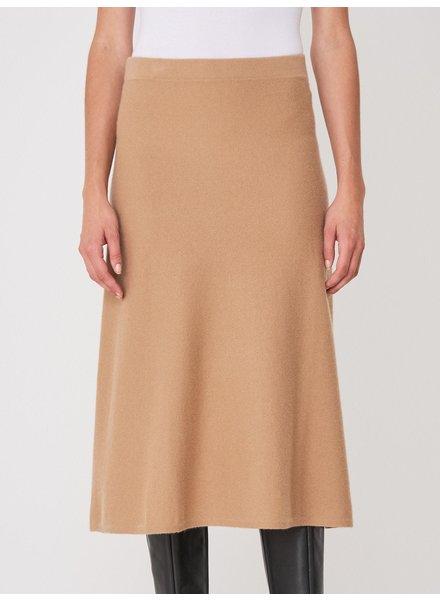 REPEAT cashmere Cashmere skirt camel