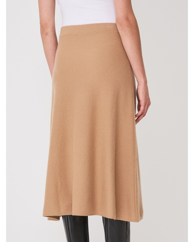 REPEAT cashmere REPEAT cashmere skirt camel