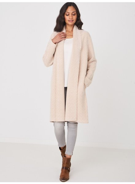 REPEAT cashmere Cardigan cream/camel