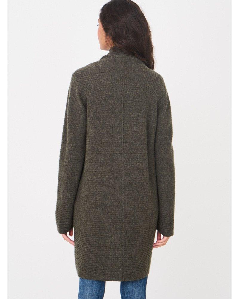REPEAT cashmere REPEAT cardigan khaki