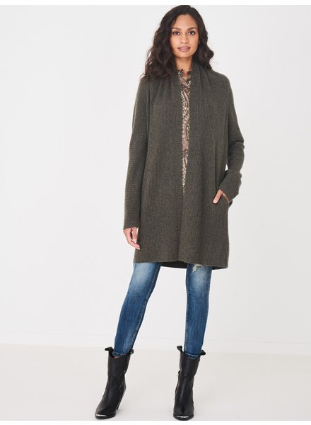 REPEAT cashmere Cardigan khaki