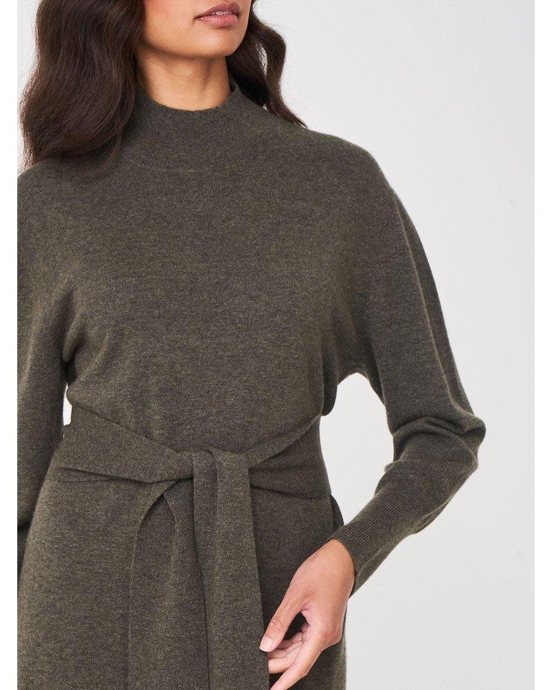 REPEAT cashmere REPEAT dress khaki
