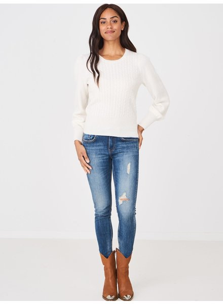 REPEAT cashmere Cashmere trui cream