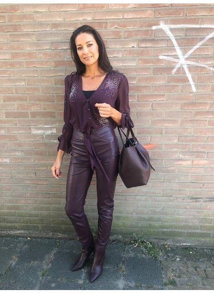 Patrizia Pepe Pantaloni violet swan