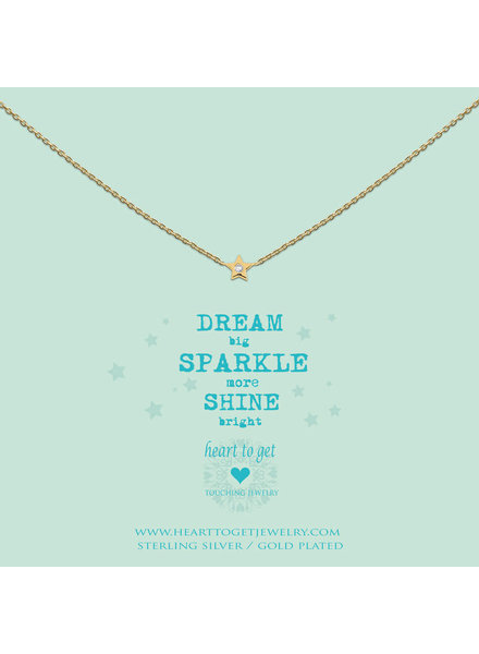 Heart To Get Necklace Star zirkon gold